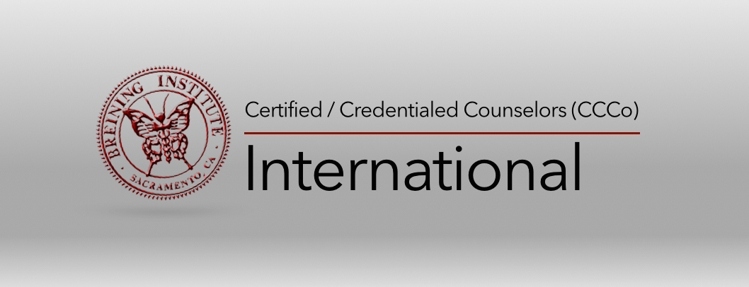 Breining institute Credential Verification certified credentialed counselors ccco